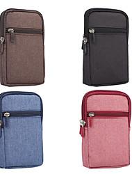 Недорогие -Кейс для Назначение Blackberry / Apple / SSamsung Galaxy Универсальный Бумажник для карт Поясные сумки Однотонный Мягкий текстильный