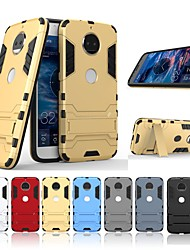 cheap -Case For Motorola MOTO G5 Plus Shockproof / with Stand Back Cover Solid Colored / Armor Hard PC for Moto G5s Plus