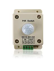 Недорогие -dc12-24v 8a инфракрасный датчик движения pir переключатель человеческого тела автоматическая индукция для светодиодной полосы освещения
