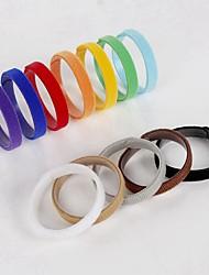 abordables -Perros Gatos Cuello Collares de Entrenamiento para Perros Portátil Tamaño Ajustable Smart Anti-Lost Un Color Nailon Arco iris
