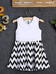 Недорогие -Дети Девочки Мультипликация Платье Белый