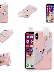 abordables -Coque Pour Apple iPhone XR / iPhone XS Max Motif Coque Animal / Bande dessinée Flexible TPU pour iPhone XS / iPhone XR / iPhone XS Max