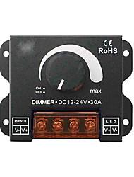 Недорогие -30a светодиодные диммер постоянного тока 12 В 24 В 360 Вт регулируемая яркость лампы полосы света драйвер драйвер одного цвета свет контроллер питания 5050 3528