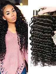 olcso -6 csomag Brazil haj Mély hullám 100% Remy hajszövési csomó Sisak Az emberi haj sző Egy Pack Solution 8-28 hüvelyk Természetes szín Emberi haj sző Vízesés Puha új Human Hair Extensions Női