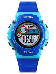 Недорогие -SKMEI®1477 Дети Детские часы Android iOS WIFI Водонепроницаемый Спорт Длительное время ожидания Smart Градиент цвета будильник Секундомер Календарь С двумя часовыми поясами
