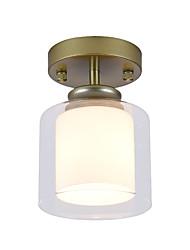 Недорогие -потолочный светильник mini / стеклянный скрытого монтажа для прихожей черный серебристый металл, окрашенный в золотой цвет 110-120v / 220-240v / e26e27 без лампы накаливания