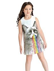 お買い得  -子供 女の子 動物 ドレス グレー