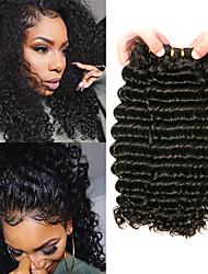 billige -3 Bundler malaysisk hår Dyb Bølge Jomfruhår 100% Remy Hair Weave Bundles Hovedstykke Bundle Hair Hårforlængelse af menneskehår 8-28 inch Naturlig Farve Menneskehår Vævninger Lugtfri Moderigtigt