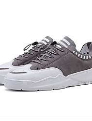 abordables -Homme Chaussures de confort Polyuréthane Printemps Simple Basket Ne glisse pas Bloc de Couleur Noir / Gris / Vert Véronèse