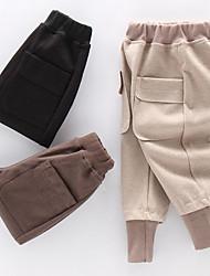 abordables -Enfants Garçon Basique / Chic de Rue Couleur Pleine / Mosaïque Mosaïque Coton Pantalons Marron