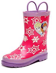 halpa -Tyttöjen Kengät Kumi Kevät Comfort / Kumisaappaat Bootsit varten Lapset / Teini-ikäinen Punainen / Säärisaappaat