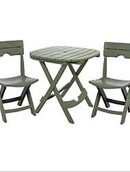 Недорогие -Быстро складывающаяся бистро для мебели из 3-х частей зеленого цвета