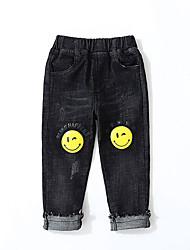 abordables -Enfants Garçon Basique / Chic de Rue Imprimé Déchiré / Imprimé Coton Jeans Noir