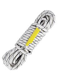 abordables -Cuerdas Belay y Rappel Dispositivos Protección Escalada Cuerda Poliéster / Poliamida 5 m Escalada Ejercicio al Aire Libre Esquí náutico y deportes de remolque 东安 Negro / Blanco