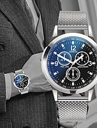 Недорогие -Муж. Нарядные часы Кварцевый Нержавеющая сталь Черный / Серебристый металл 30 m Защита от влаги Повседневные часы Cool Аналоговый На каждый день Мода - Черный Серебристый / белый Черный / Серебристый