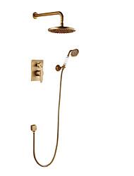 Недорогие -Смеситель для душа Античная медь На стену Керамический клапан Bath Shower Mixer Taps
