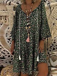 Недорогие -Жен. Классический Оболочка Платье - Геометрический принт Выше колена