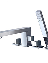 رخيصةأون -حنفية حوض الاستحمام - تم إصلاحه متعددة الطوابق أخرى صمام سيراميكي Bath Shower Mixer Taps