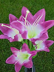 Недорогие -Мода 1 шт. солнечный свет 4 головы солнечный фонарь светодиодные декоративные открытый газон лампы 4 цветок лилии сад лампы солнечный цветок свет