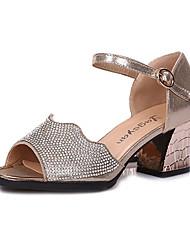 8c83c32f048 Γυναικεία Παπούτσια χορού λάτιν Φο Δέρμα Τακούνια Τεχνητό διαμάντι Πυκνό  τακούνι Εξατομικευμένο Παπούτσια Χορού Χρυσό / Μαύρο / Ασημί
