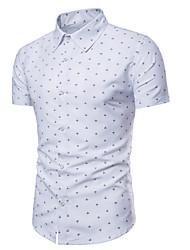 billige -Herre - Geometrisk Skjorte Hvid XL