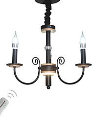 Недорогие -3-Light Люстры и лампы Окрашенные отделки Металл Свеча Стиль 110-120Вольт / 220-240Вольт