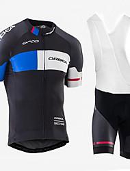 Недорогие -2017 orbea тур де франция команда езда костюм с коротким рукавом костюм быстросохнущая ткань велосипед мужчины и женщины езда униформа команды