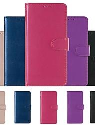 Недорогие -Кейс для Назначение Huawei Huawei P20 / Huawei P20 Pro / Huawei P20 lite Кошелек / Бумажник для карт / Защита от удара Чехол Однотонный Твердый Кожа PU / P10 Lite