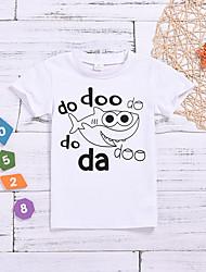 levne -Dítě Chlapecké Základní Tisk Krátký rukáv Bavlna / Polyester Košilky Bílá