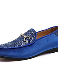 Недорогие -Муж. Официальная обувь Синтетика Весна / Наступила зима На каждый день / Английский Мокасины и Свитер Нескользкий Черный / Синий