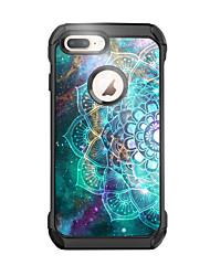 levne -BENTOBEN Carcasă Pro Apple iPhone 8 Plus Svítí ve tmě / Nárazuvzdorné / Vzor Zadní kryt Nebeská modř / Geometriské vzory Pevné PU kůže / TPU / PC pro iPhone 8 Plus