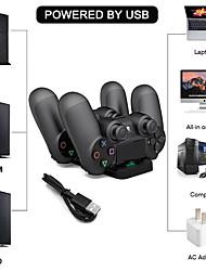 Недорогие -PS4 Dual Controller зарядное устройство Dual USB зарядное устройство базовый комплект зарядного устройства
