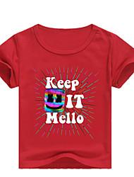 levne -Děti / Toddler Chlapecké Základní Tisk Tisk Krátký rukáv Bavlna / Spandex Košilky Světlá růžová