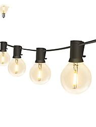 billige -3,5 m Lysslynger 12 lysdioder EL Varm hvid Vandtæt / Fest / Dekorativ 220-240 V