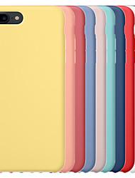 Недорогие -чехол для яблока iphone 6 / iphone 6 plus iphone 6s iphone7 iphone8 iphone7plusiphone8plus iphone x / xs / xsmas противоударная задняя крышка сплошной цветной жесткий ПК / силикагель для
