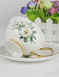 Недорогие -Фарфор Heatproof Телесный нерегулярный 2pcs Кофе и чай Чашка