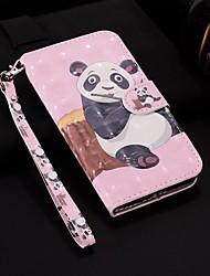 Недорогие -чехол для яблока iphone xr / iphone xs max с рисунком / флип / с подставкой для чехлов для всего тела лазерная 3d кожа panda для iPhone 6/6 plus / 6s / 6s plus / 7/7 plus / 8/8 plus / xs / x
