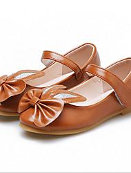 dd3f06b301e Chica Cuero Sintético Bailarinas Zapatos para niña florista Blanco / Marrón  / Rosa Primavera