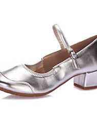 a6f0590bee9 Γυναικεία Μοντέρνα παπούτσια Φο Δέρμα Τακούνια Πυκνό τακούνι Εξατομικευμένο  Παπούτσια Χορού Μπεζ / Φούξια / Κόκκινο