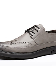 abordables -Homme Bullock Chaussures Microfibre / Polyuréthane Printemps été Oxfords Noir / Gris / Soirée & Evénement