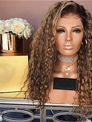 Недорогие -Парики из искусственных волос Естественные прямые Стиль Средняя часть Машинное плетение Парик Отбеливатель Blonde Искусственные волосы 26 дюймовый Жен. Женский Темно-коричневый Парик Длинные