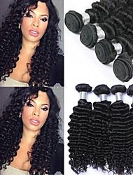 저렴한 -번들 6 개 브라질리언 헤어 딥 웨이브 버진 헤어 인간의 머리 직조 번들 헤어 한 팩 솔루션 8-28inch 자연 색상 인간의 머리 되죠 오더 프리 선물 뜨거운 판매 인간의 머리카락 확장 여성용 / 처리되지 않은