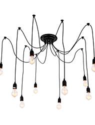 Недорогие -QINGMING® 10-Light кластер Люстры и лампы Потолочный светильник Окрашенные отделки Металл LED 110-120Вольт / 220-240Вольт Лампочки включены / E26 / E27