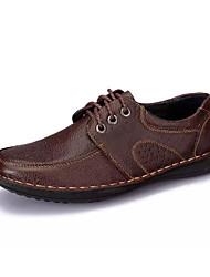 levne -Pánské Komfortní boty PU Léto Oxfordské Černá / Hnědá