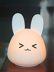 Недорогие -1шт Rabbit LED Night Light / Детский ночной свет / Книжный свет USB Мультипликация / Стресс и тревога помощи / Перезаряжаемый 5 V