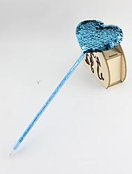 Χαμηλού Κόστους -πλαστικές / διπλής όψεως πούλιες καρδιά μπλε μολύβι μολύβι μπιλιάρδο δώρα βιοτεχνίας για παιδιά που μαθαίνουν γραφείο χαρτικά
