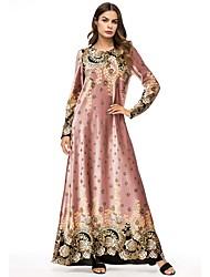 tanie -Damskie Boho Elegancja Swing Sukienka - Solidne kolory Geometric Shape, Patchwork Maxi