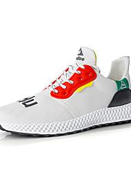 levne -Pánské Komfortní boty PU Léto Atletické boty Chůze Bílá / Černá / Žlutá