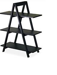 Недорогие -современный 3-х уровневый стеллаж с рамкой для дисплея в черном цвете