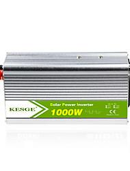 Недорогие -Kesge 1000 Вт высокочастотный автомобильный преобразователь синусоидальной формы dc12v / 24v в инвертор ac110v / 220v
